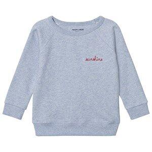 Maison Labiche Girls Jumpers and knitwear Blue Sunshine Embroidered Sweatshirt Blue