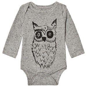 Soft Gallery Unisex All in ones Grey Baby Body Big Owl Blue Neppy Grey Melange