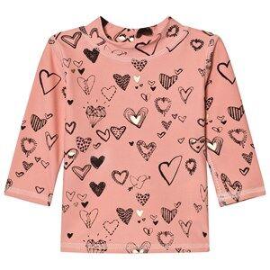 Image of Soft Gallery Girls Swimwear and coverups Pink Astin Swim Shirt Coral Almond
