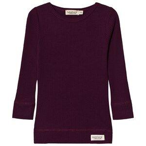 MarMar Copenhagen Unisex Tops Purple Plain Tee Purple Night