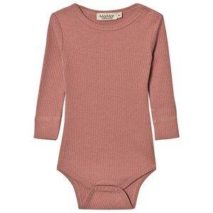 MarMar Copenhagen Unisex All in ones Pink Plain Baby Body Antique Rose