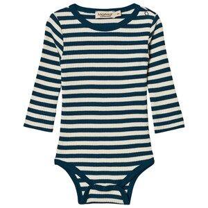 MarMar Copenhagen Unisex All in ones Blue Plain Baby Body Blue Abyss Stripe