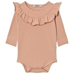 MarMar Copenhagen Unisex All in ones Pink Bibbi Baby Body Dusty Rose