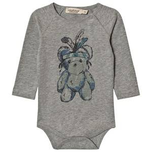 MarMar Copenhagen Unisex All in ones Bo Baby Body Teddy Grey Melange