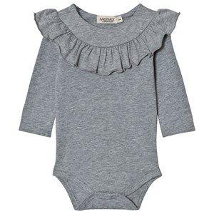 MarMar Copenhagen Unisex All in ones Grey Bibbi Baby Body Grey Melange