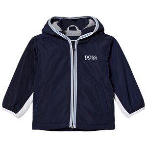 Boss Boys Coats and jackets Navy Navy/White Branded Hooded Windbreaker