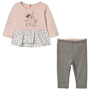 Catimini Girls Clothing sets Pink Deer Top and Leggings Set