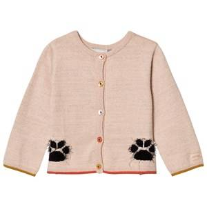 Image of Catimini Girls Jumpers and knitwear Pink Pink Paw Glitter Cardigan