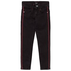Pepe Jeans Girls Bottoms Black Black Pixelette Piped Detail Skinny Jeans