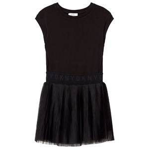 DKNY Girls Dresses Black Black Sweat Dress Tulle Skirt
