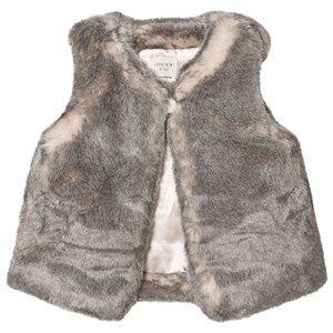 Carrément Beau Girls Coats and jackets Grey Grey Faux Fur Vest