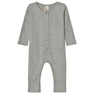 Image of Gray Label Unisex All in ones Grey Long Sleeve Playsuit Grey Melange