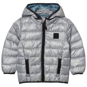 Image of Molo Unisex Coats and jackets Silver Hao Jacket Neutral Grey