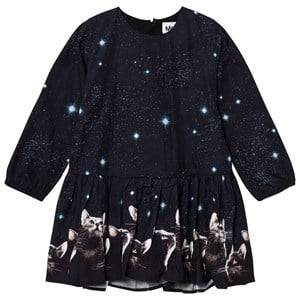 Molo Girls Dresses Black Cay Dress Cat Dreams