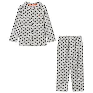 Petit Bateau Unisex Nightwear Grey Beluga Star Pyjamas