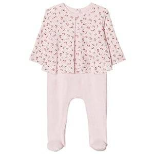 Image of Petit Bateau Girls All in ones Pink Vienne Pink Footed Baby Body