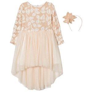 Billieblush Girls Dresses Pink Pale Pink Sequin Tulle Dress