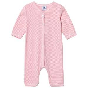 Image of Petit Bateau Girls All in ones Pink Pink Striped One-Piece