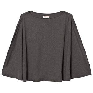 Mom2Mom Girls Private Label Maternity tops Grey Nursing Poncho Grey