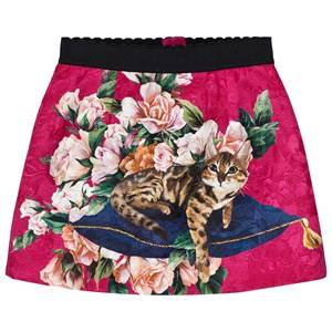 Dolce & Gabbana Girls Skirts Pink Pink Zambia Brocade Skirt