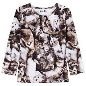 Molo Girls Tops Grey Ruth T-Shirt Miauuu