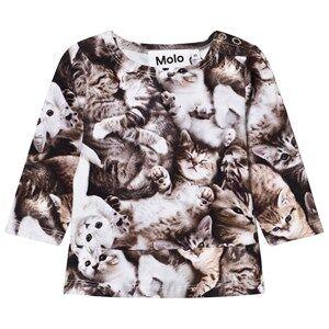 Molo Girls Tops Grey Elisabeth T-Shirt Miauuu