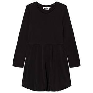 Image of Molo Girls Dresses Black Clementine Dress Black Bean