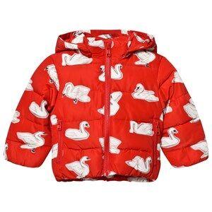 Stella McCartney Kids Girls Coats and jackets Red Red Swan Print Hubert Puffer Coat