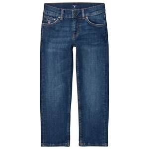 Gant Boys Bottoms Blue Blue Mid Wash Slim Jeans