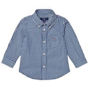 Gant Boys Tops Navy Navy Classic Gingham Oxford Shirt
