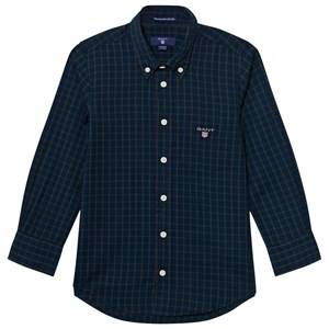 Gant Boys Tops Navy Navy and Green Check Shirt