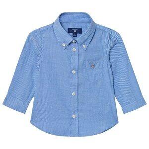 Gant Boys Tops Blue Blue Oxford Stripe Shirt
