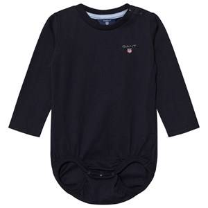 Image of Gant Boys All in ones Navy Navy Shield Jersey Baby Body