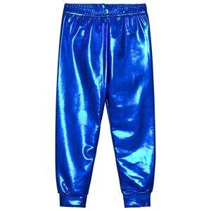 Gardner and the gang Unisex Bottoms Blue Metallic Leggings Blue