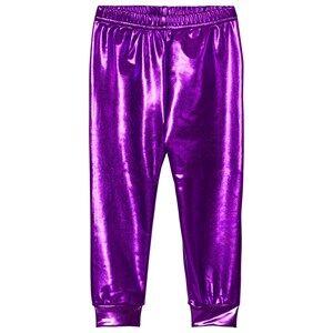 Gardner and the gang Girls Bottoms Purple Metallic Leggings Purple