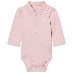 Ralph Lauren Girls All in ones Pink Long Sleeve Baby Body Pink