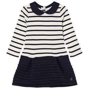 Petit Bateau Girls Dresses White Marine Stripe Dual Dress