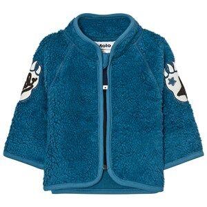 Molo Unisex Fleeces Blue Urvan Fleece Jacket Latitude