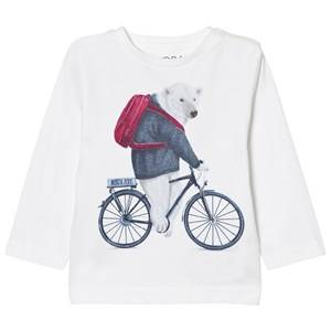 Mayoral Boys Tops Cream White Polar Bear Print Tee