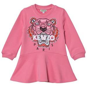 Image of Kenzo Girls Dresses Pink Pink Embroidered Tiger Sweat Dress