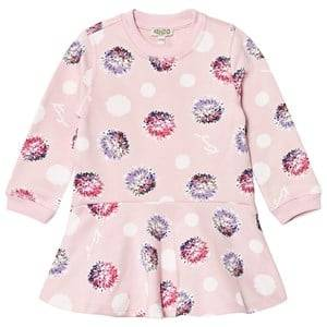 Kenzo Girls Dresses Pink Pink Spot Sweat Dress