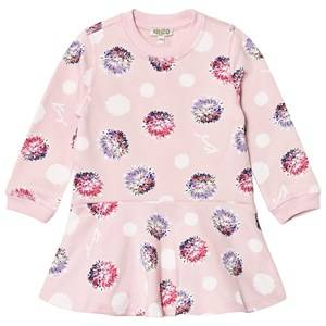 Kenzo Girls Dresses Pink Pink Spot Sweat Dress