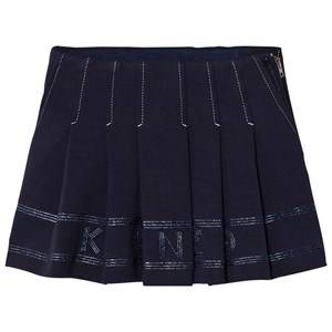 Kenzo Girls Skirts Navy Navy Pleated Logo Skirt