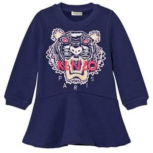 Kenzo Girls Dresses Purple Purple Embroidered Tiger Sweat Dress