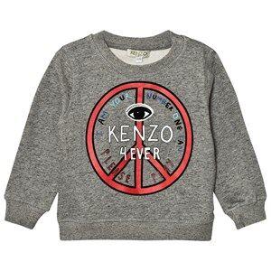 Kenzo Boys Jumpers and knitwear Grey Dark Grey Marl Logo Peace Sign Sweatshirt