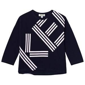 Kenzo Girls Tops Navy Navy Branded Long Sleeve Tee