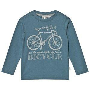 Wheat Unisex Tops Blue Bicycle Long Sleeve Tee Bluestone