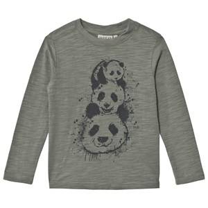 Wheat Unisex Tops Green Panda Tree Long Sleeve Tee Agave