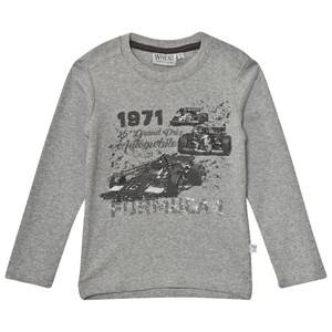 Wheat Unisex Tops Grey Formula 1 Long Sleeve Tee Melange Grey