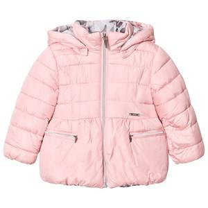 Mayoral Girls Coats and jackets Pink Pink Reversible Floral Hooded Coat